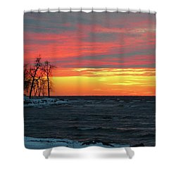 Winter Solstice Eve Shower Curtain