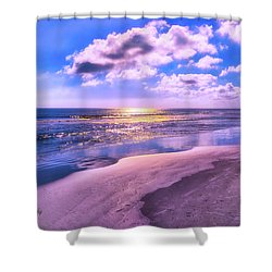 Winter Solstice Sunrise Shower Curtain