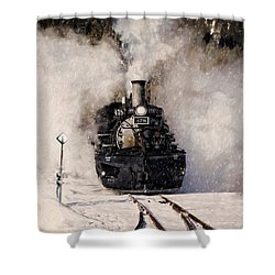 Winter Steam At Rockwood Colorado Shower Curtain