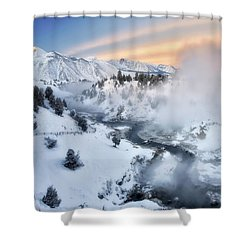 Winter Steam  Shower Curtain