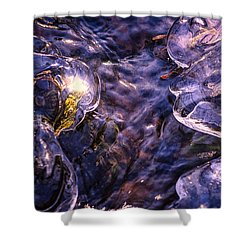 Winter Streams Shower Curtain
