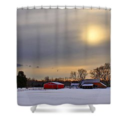 Winter Sun Shower Curtain by Evelina Kremsdorf