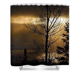 Winter Sunrise 1 Shower Curtain by Sebastian Musial