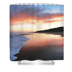 Winter Sunrise Shower Curtain by Roy McPeak