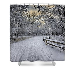 Shower Curtain featuring the photograph Winter Sunrise by Sebastian Musial
