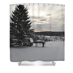 Shower Curtain featuring the photograph Winter Sunset - 2 by John Black