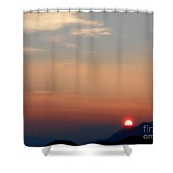 Winter Sunset Shower Curtain