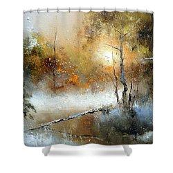 Winter Sunset Shower Curtain