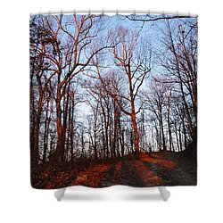 Winter Sunset In Georgia Mountains Shower Curtain