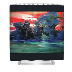Winter Sunset Shower Curtain by Lenore Senior