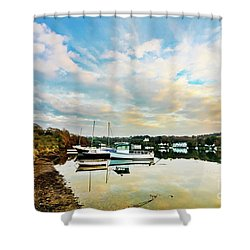 Winter Sunset Shower Curtain by Terri Waters