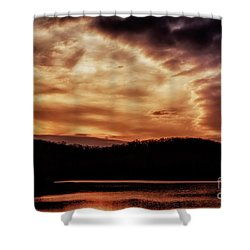 Shower Curtain featuring the photograph Winter Sunset by Thomas R Fletcher