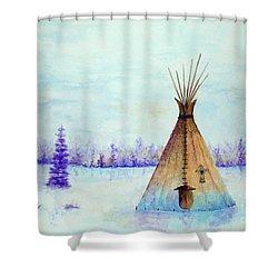 Winter Tepee Shower Curtain