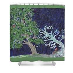 Winter To Spring Shower Curtain