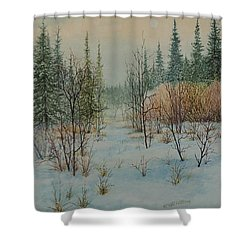 Winter Trail Alberta Shower Curtain