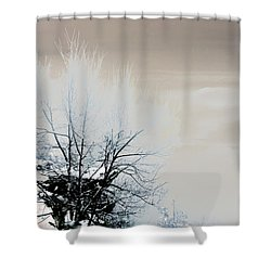 Winter Tree On Mountain Bluff Shower Curtain by Frank Bright
