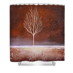 Winter Tree Shower Curtain by Toni Grote