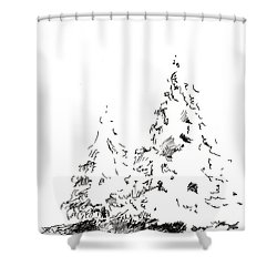 Winter Trees 1 - 2016 Shower Curtain