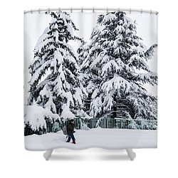 Shower Curtain featuring the photograph Winter Trekking by Okan YILMAZ