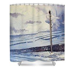 Winter Walkers Shower Curtain