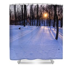 Winter Walks Continue Shower Curtain