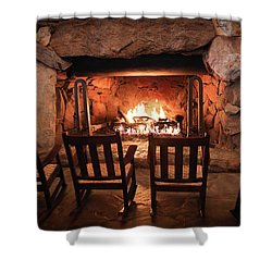 Shower Curtain featuring the photograph Winter Warmth by Karen Wiles