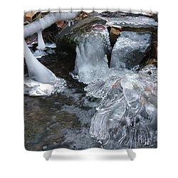 Winter Water Flow 4 Shower Curtain