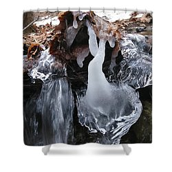 Winter Water Flow 5 Shower Curtain
