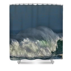 Winter Waves And Veil Shower Curtain by Shirley Mangini