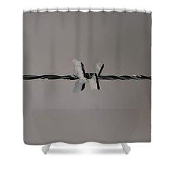 Winter Wire Shower Curtain