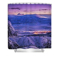 Winter Wonderland Shower Curtain by Edgars Erglis