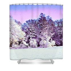 Shower Curtain featuring the digital art Winter by Zedi