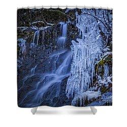 Winterfalls Shower Curtain by Mitch Shindelbower