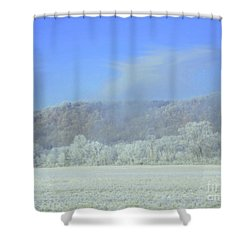 Winter's An Etching... Shower Curtain