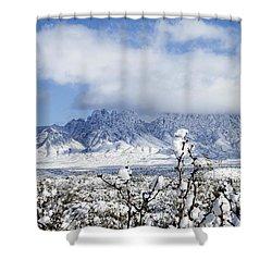 Shower Curtain featuring the photograph Organ Mountains Winter Wonderland by Kurt Van Wagner