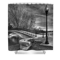 Winter's Bridge Shower Curtain