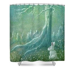 Shower Curtain featuring the digital art Winters Coming by Ann Lauwers
