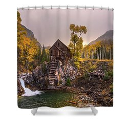 Shower Curtain featuring the photograph Winter's Coming by Darren White