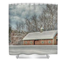 Winters Coming Shower Curtain by Tricia Marchlik