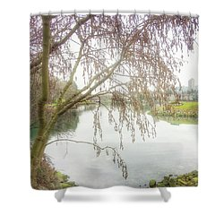 Shower Curtain featuring the photograph Winter's  End  by Connie Handscomb