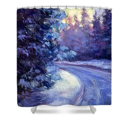 Winter's Exodus Shower Curtain