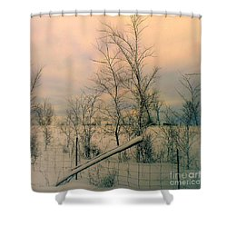 Winter's Face Shower Curtain