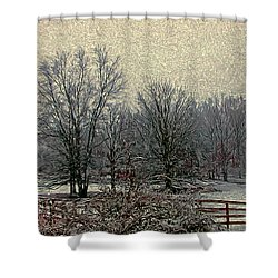 Winter's First Snowfall Shower Curtain