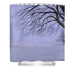 Winter's Fury Shower Curtain by Billinda Brandli DeVillez