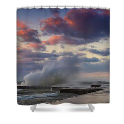 Winters Fury Shower Curtain