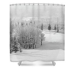 Winter's Gentle Kiss Shower Curtain