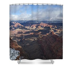 Winter's Grasp At The Grand Canyon Shower Curtain by Sandra Bronstein