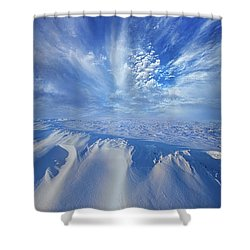 Shower Curtain featuring the photograph Winter's Hue by Phil Koch