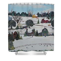 Winters Last Snow Shower Curtain