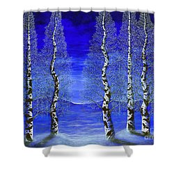 Winters Raven Aspen Shower Curtain